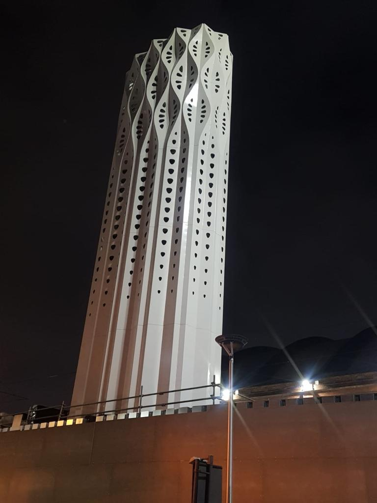 Tower of Light installed